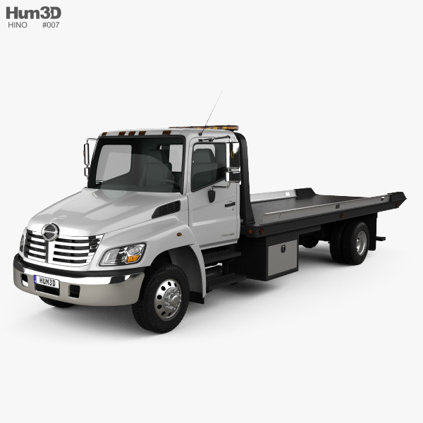 Hino 258 ALP Tow Truck 2007 3D model