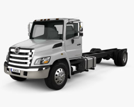 3D model of Hino 268 A Chassis Truck 2007