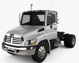 3D model of Hino 338 CT Tractor Truck 2007
