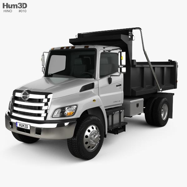 Hino 338 Dump Truck 2007 3D model