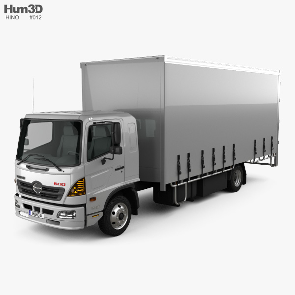 Hino 500 FD (1027) Load Ace Box Truck 2008 3D model