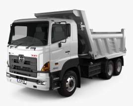 3D model of Hino 700 (2841) Tipper Truck 2009