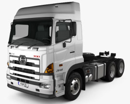 3D model of Hino 700 (2845) Tractor Truck 2009