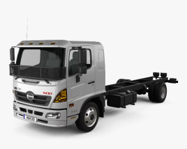 3D model of Hino 500 FD (1124) Chassis Truck 2016