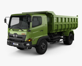 3D model of Hino 500 FG Tipper Truck 2016