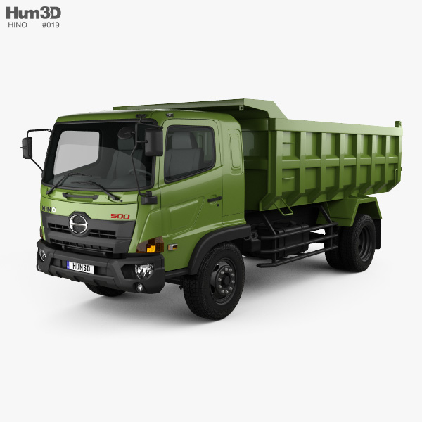 3D model of Hino 500 FG Tipper Truck 2016
