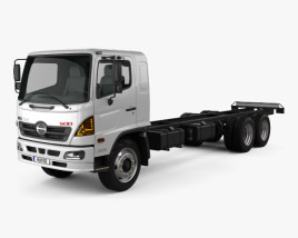 3D model of Hino 500 FC LWB Chassis Truck 2016