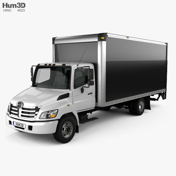 Hino 185 Box Truck 2006 3D model