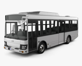 3D model of Hino Rainbow Bus 2016