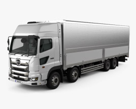 3D model of Hino 700 Profia Box Truck 4-axle 2017