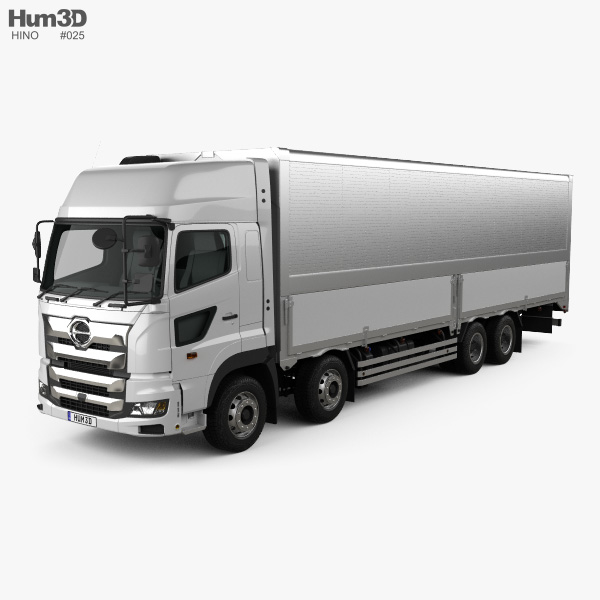 Hino 700 Profia Box Truck 4-axle 2017 3D model