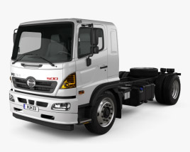 3D model of Hino 500 Chassis Truck 2018