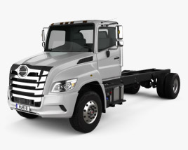 3D model of Hino XL Chassis Truck 2019