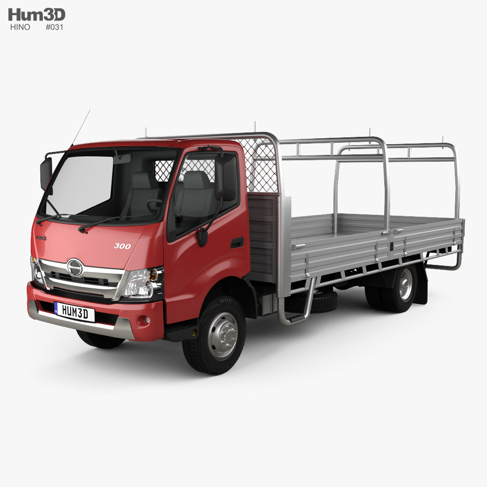 3D model of Hino 300 Flatbed Truck 2020