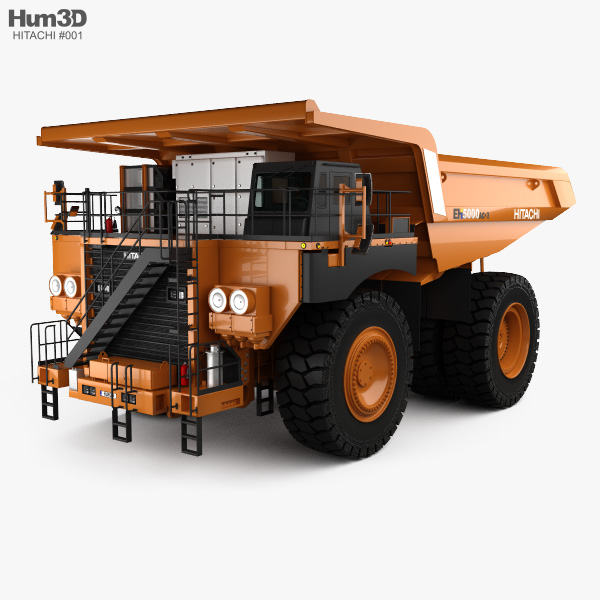 Hitachi EH5000AC-3 Dump Truck 2012 3D model