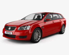 3D model of Holden VE Commodore Sportwagon 2012