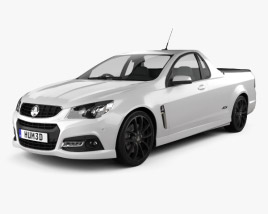 3D model of Holden VF Commodore Calais V UTE 2013