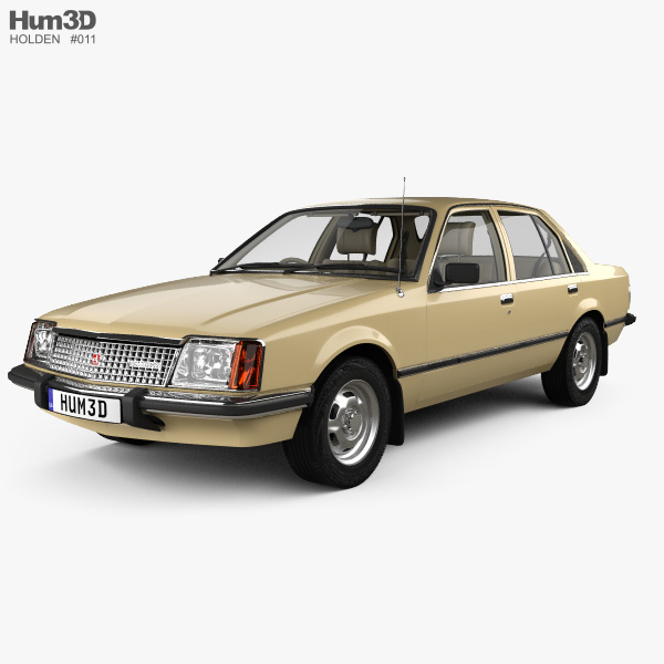 Holden Commodore with HQ interior 1980 3D model