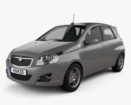 3D model of Holden Barina (TK) hatchback 2008