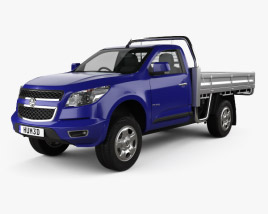 3D model of Holden Colorado LS Single Cab Alloy Tray 2012