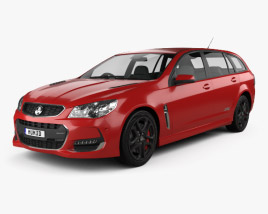 3D model of Holden Commodore SS-V Redline Sportwagon 2015