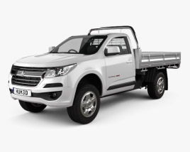 3D model of Holden Colorado LS Single Cab Alloy Tray 2016