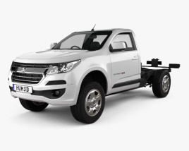 3D model of Holden Colorado LS Single Cab Chassis 2016