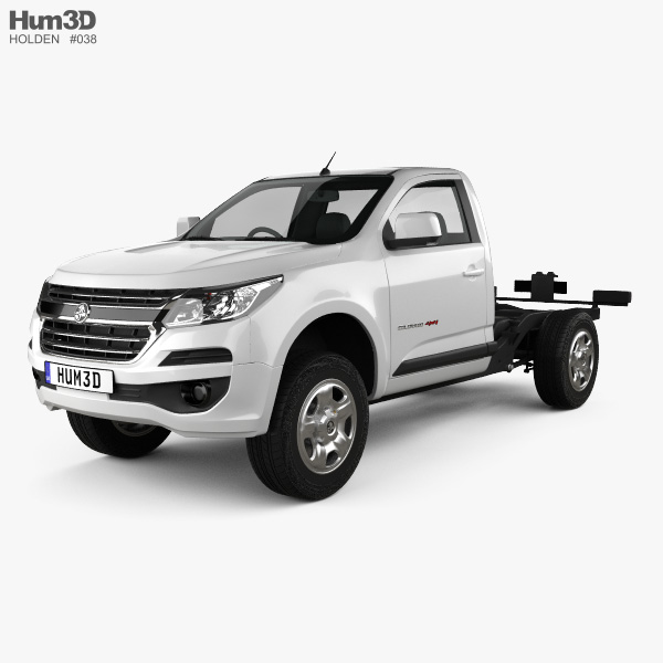 Holden Colorado LS Single Cab Chassis 2016 3D model