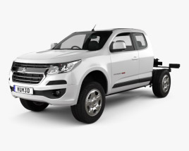 3D model of Holden Colorado LS Space Cab Chassis 2016