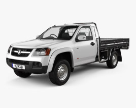 3D model of Holden Colorado LX Single Cab Alloy Tray 2008
