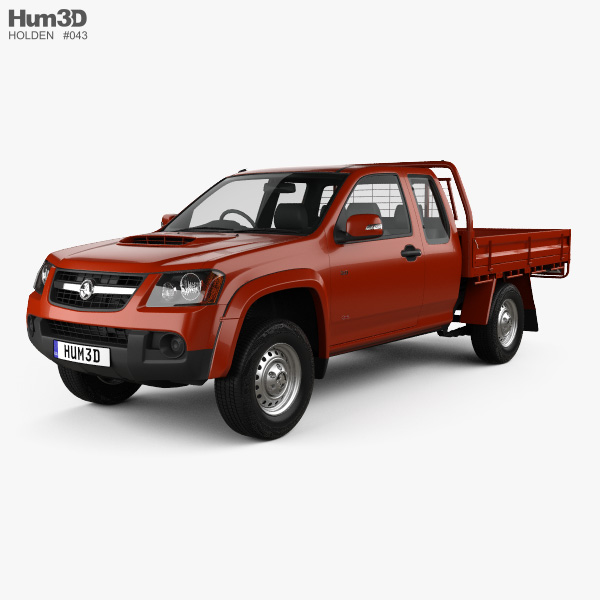 3D model of Holden Colorado LX Space Cab Alloy Tray 2008