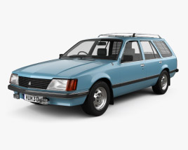3D model of Holden Commodore Wagon 1981