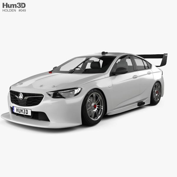 3D model of Holden Commodore (ZB) Supercar v8 2017