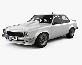 3D model of Holden Torana 4-door Race Car with HQ interior 1977