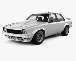 3D model of Holden Torana 4-door Race Car 1977
