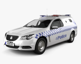 3D model of Holden Commodore ute Evoke Police 2013