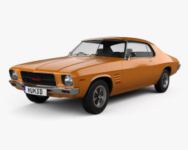 3D model of Holden Monaro GTS 350 Coupe 1971