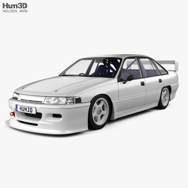 Holden Commodore Touring Car with HQ interior 1993 3D model