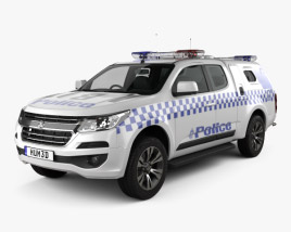 3D model of Holden Colorado Space Cab Divisional Van 2018