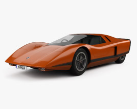 3D model of Holden Hurricane 1969