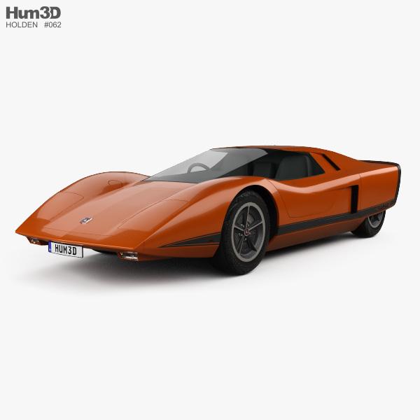 Holden Hurricane 1969 3D model