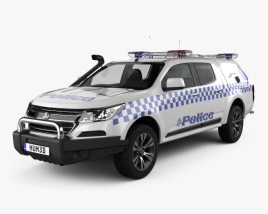 3D model of Holden Colorado Crew Cab Divisional Van 2016