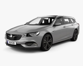 3D model of Holden Commodore Sportwagon with HQ interior 2018