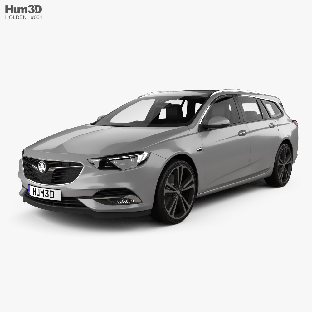 Holden Commodore Sportwagon with HQ interior 2018 3D model