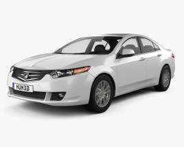 3D model of Honda Accord sedan 2009