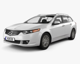 3D model of Honda Accord Tourer 2009