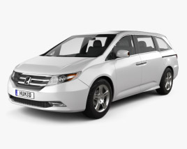 3D model of Honda Odyssey 2011