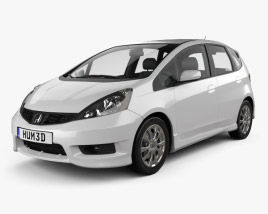 3D model of Honda Fit (Jazz) Sport 2012
