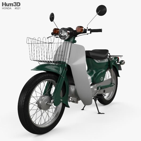 3D model of Honda Super-Cub 1971