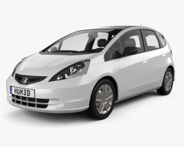 3D model of Honda Fit (Jazz) Base 2012